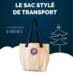 Sac anti-choc design et pratique avec ses compartiments pour vos bières artisanales fabriqué en France