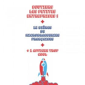 Soutien petites entreprises françaises Box microbrasseries 1z bières artisanales et une affiche