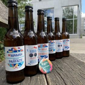 MAMAN BOX Box de  6 ou 12 bières artisanales à offrir à votre maman adorée pour sa fête, le cadeau unique et original