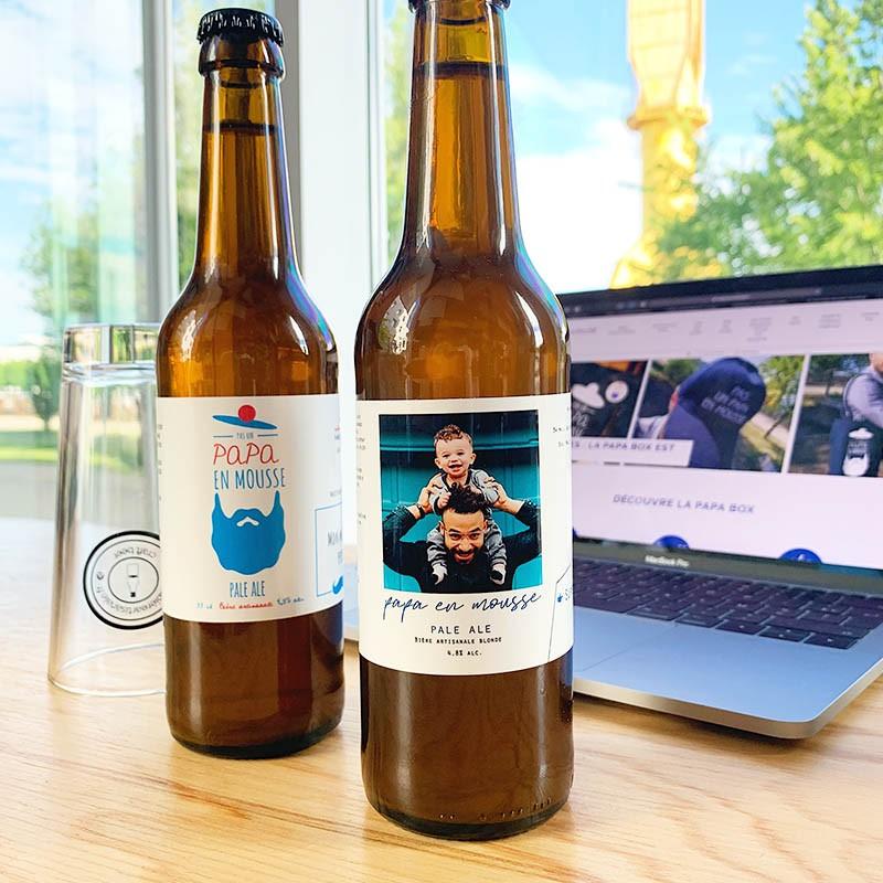 Etiquette personnalisée - Papa Mousse Photo - Bières personnalisées