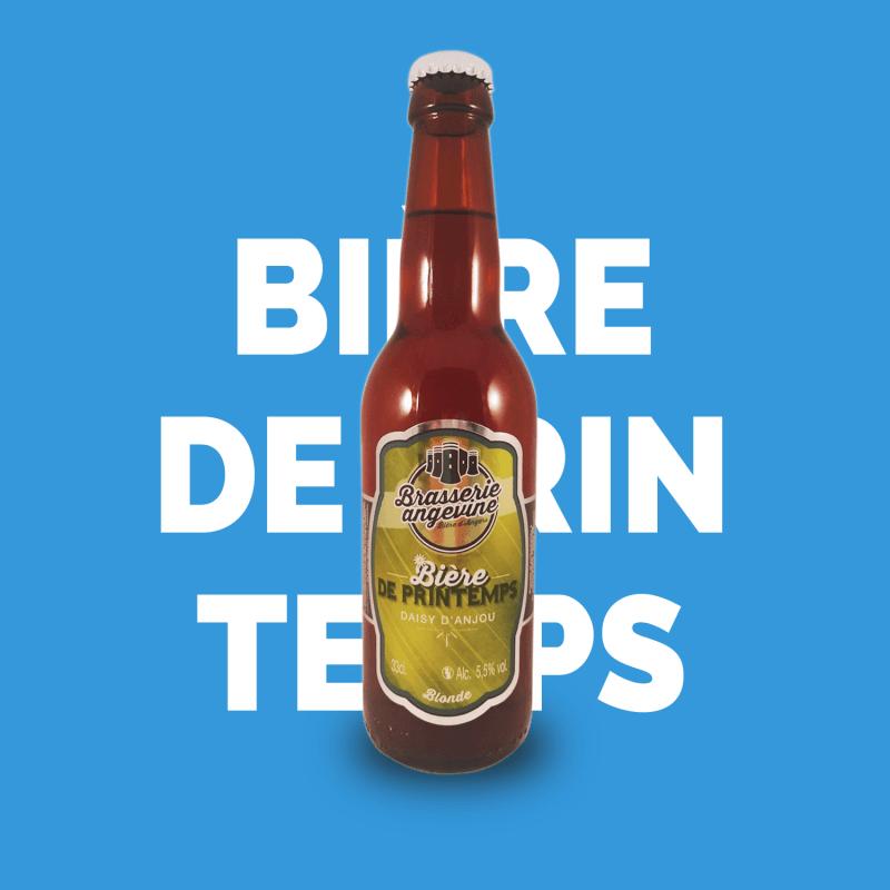 Bière artisanale microbrasserie Brasserie Angevine Bière de Printemps blonde Daisy D'Anjou box bière