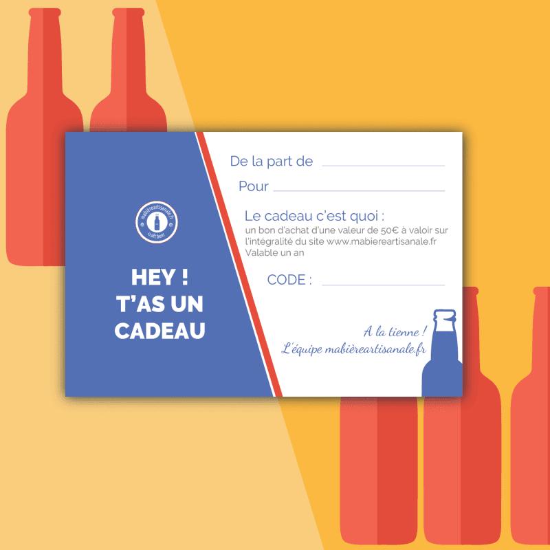 Carte Cadeau 50€ biere box biere microbrasseries biere artisanale française coffret biere