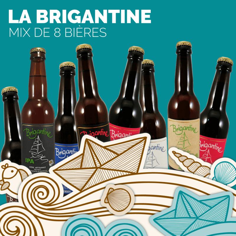 Box biere artisanale Brigantine Blanche, Blonde, IPA, Rousse, Brune cadeau biere