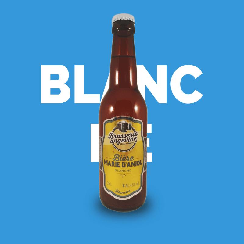 Bière artisanale microbrasserie Bière blanche Marie D'Anjou Brasserie Angevine box bière