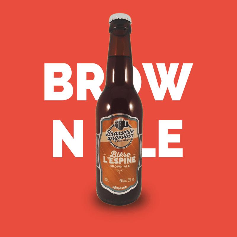 Bière artisanale microbrasserie Brasserie Angevine bière brune L'espine box bière