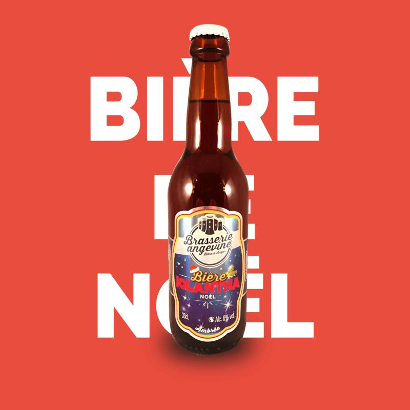 Bière artisanale microbrasserie Brasserie Angevine Bière de Noël Jolantha box bière