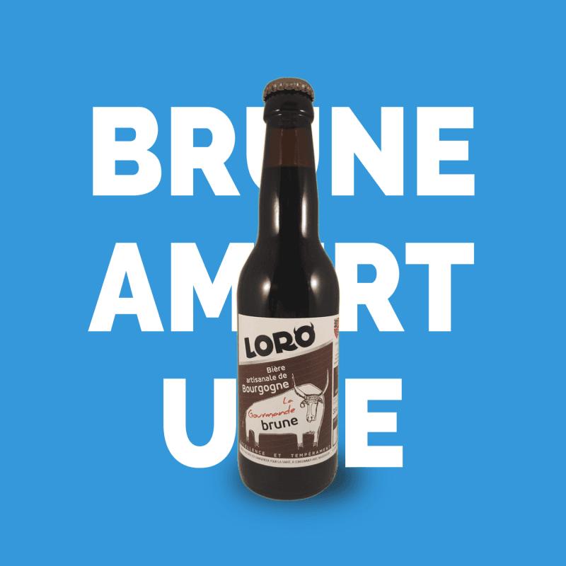 Bière artisanale microbrasserie Loro bière brune box bière