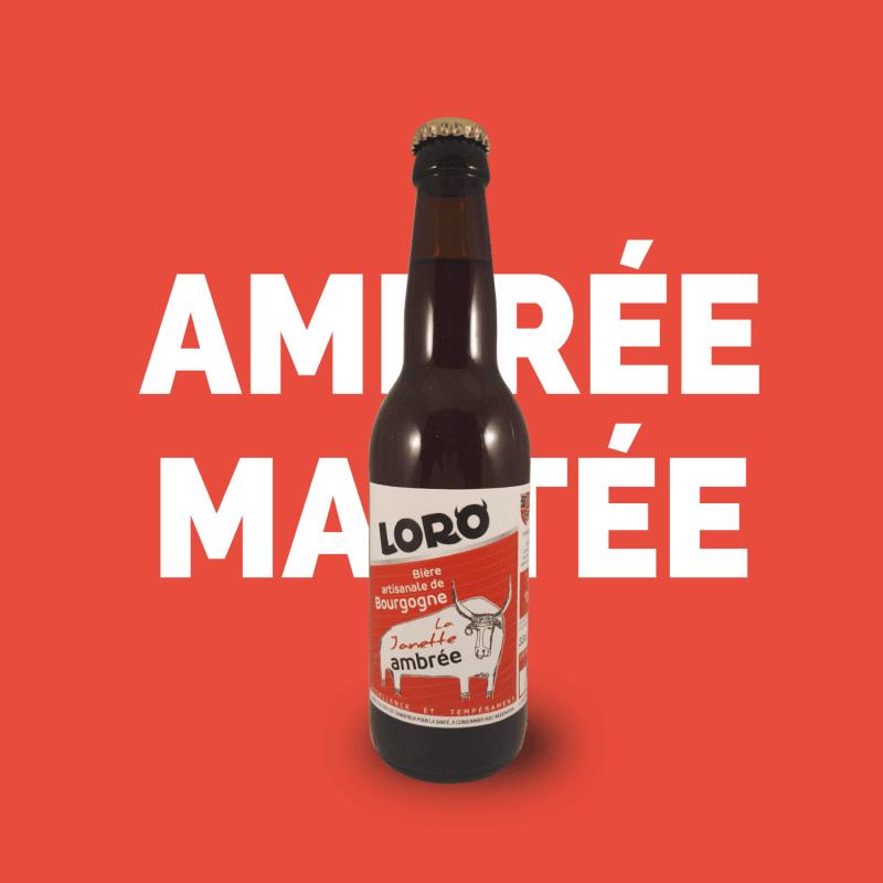 Bière artisanale microbrasserie Loro la janette bière ambrée box bière