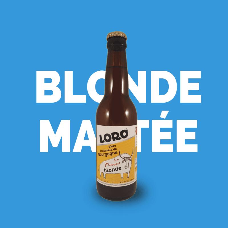 Bière artisanale microbrasserie Loro  la mimou bière blonde au miel box bière