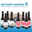cadeau biere original Cadeau biere Saint Valentin box biere microbrasseries biere personnalisee mix couple