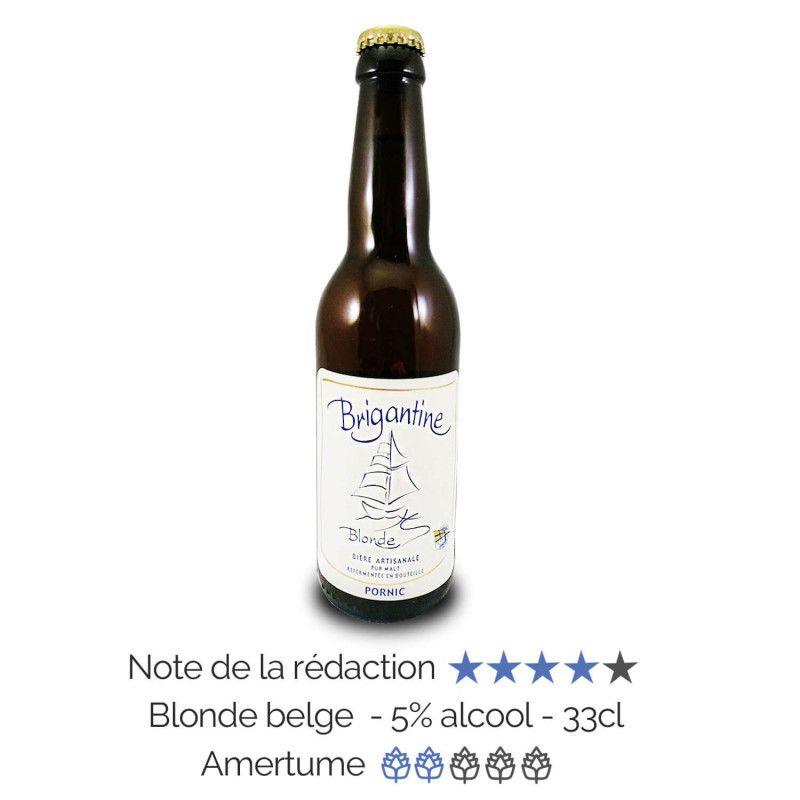Bière artisanale Blonde microbrasserie La Brigantine coffret biere box biere