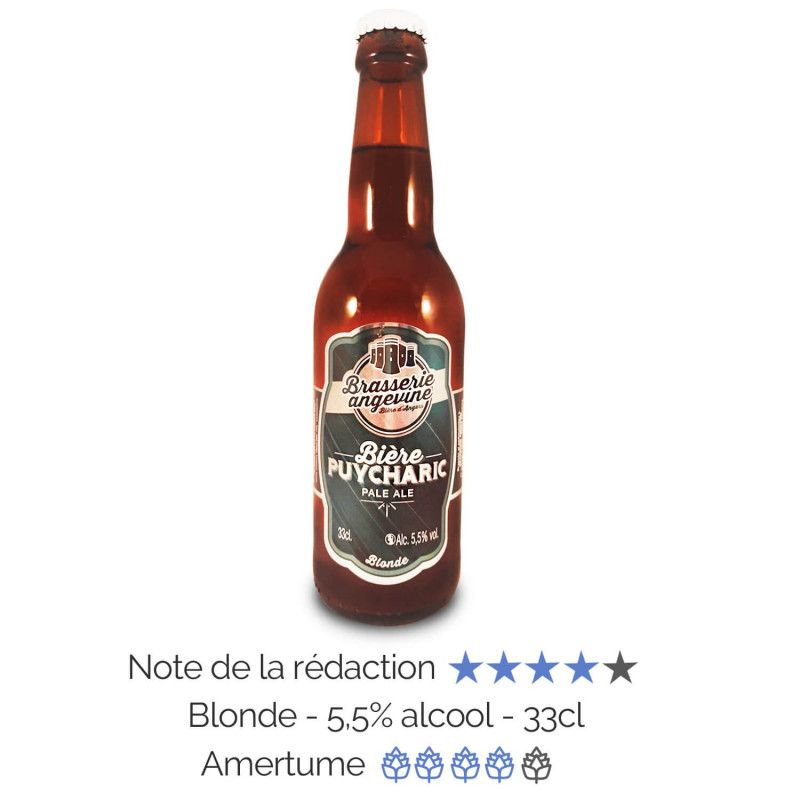 Bière artisanale microbrasserie Blonde Pale Ale Puycharic Brasserie Angevine box bière