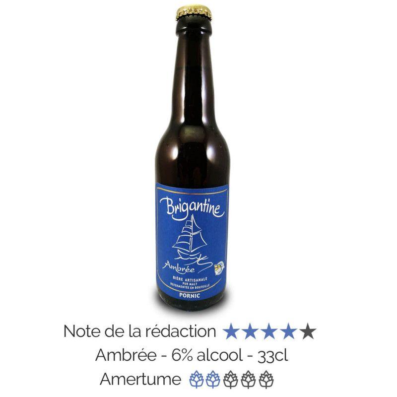 Bière artisanale Ambrée microbrasserie La Brigantine coffret biere box biere