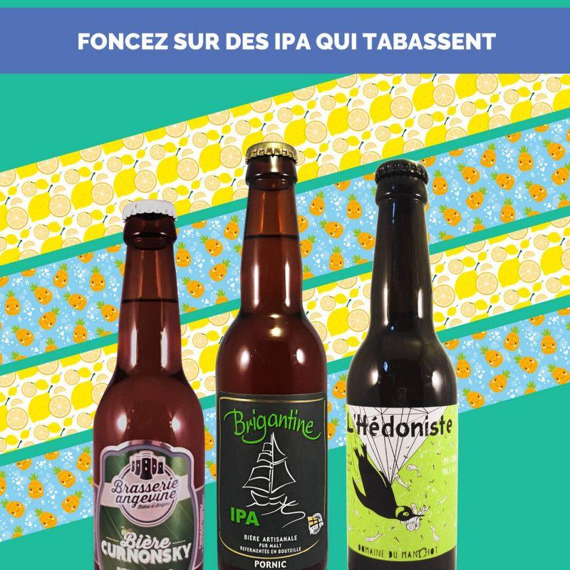Cadeau biere box biere India Pale Ale IPA microbrasseries biere artisanale française coffret biere IPA