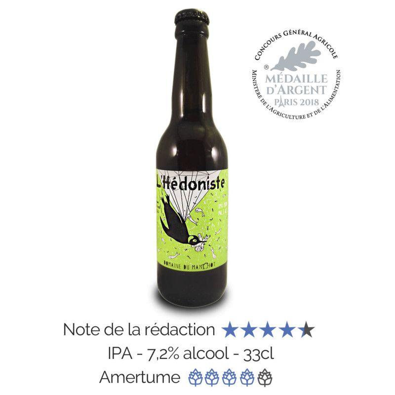 Bière artisanale microbrasserie Domaine du Manchot IPA L'hédoniste box bière