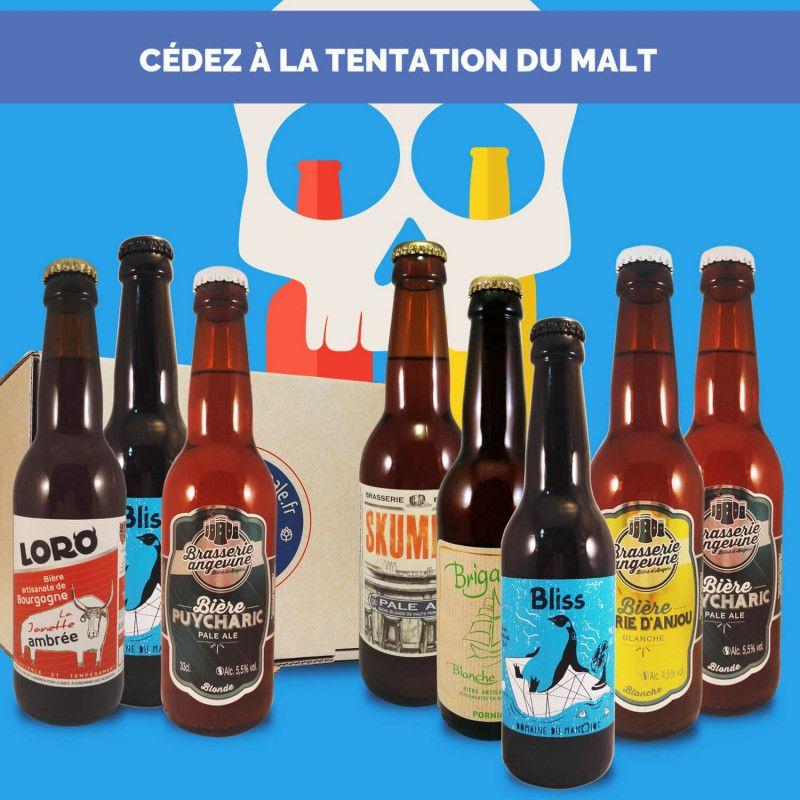 Cadeau biere box biere microbrasseries biere artisanale pas amère Pack du Malt