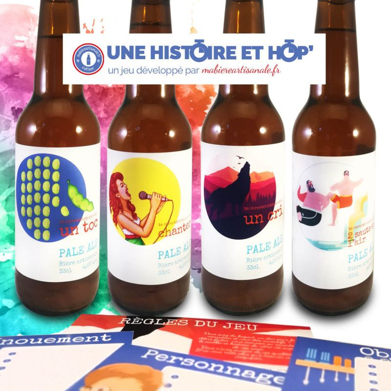 Une Histoire et Hop' Jeu de societe biere cadeau biere original jeu apero entre amis cadeau biere original