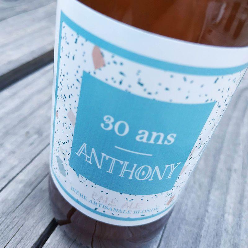 anniversaire événement etiquette personnalisée etiquette bouteille biere biere artisanale