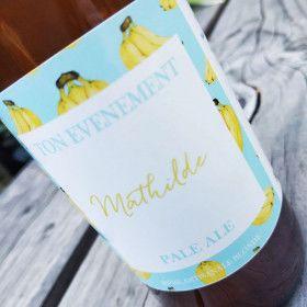 Anniversaire etiquette personnalisee evenement bouteille biere personnalisee biere artisanale