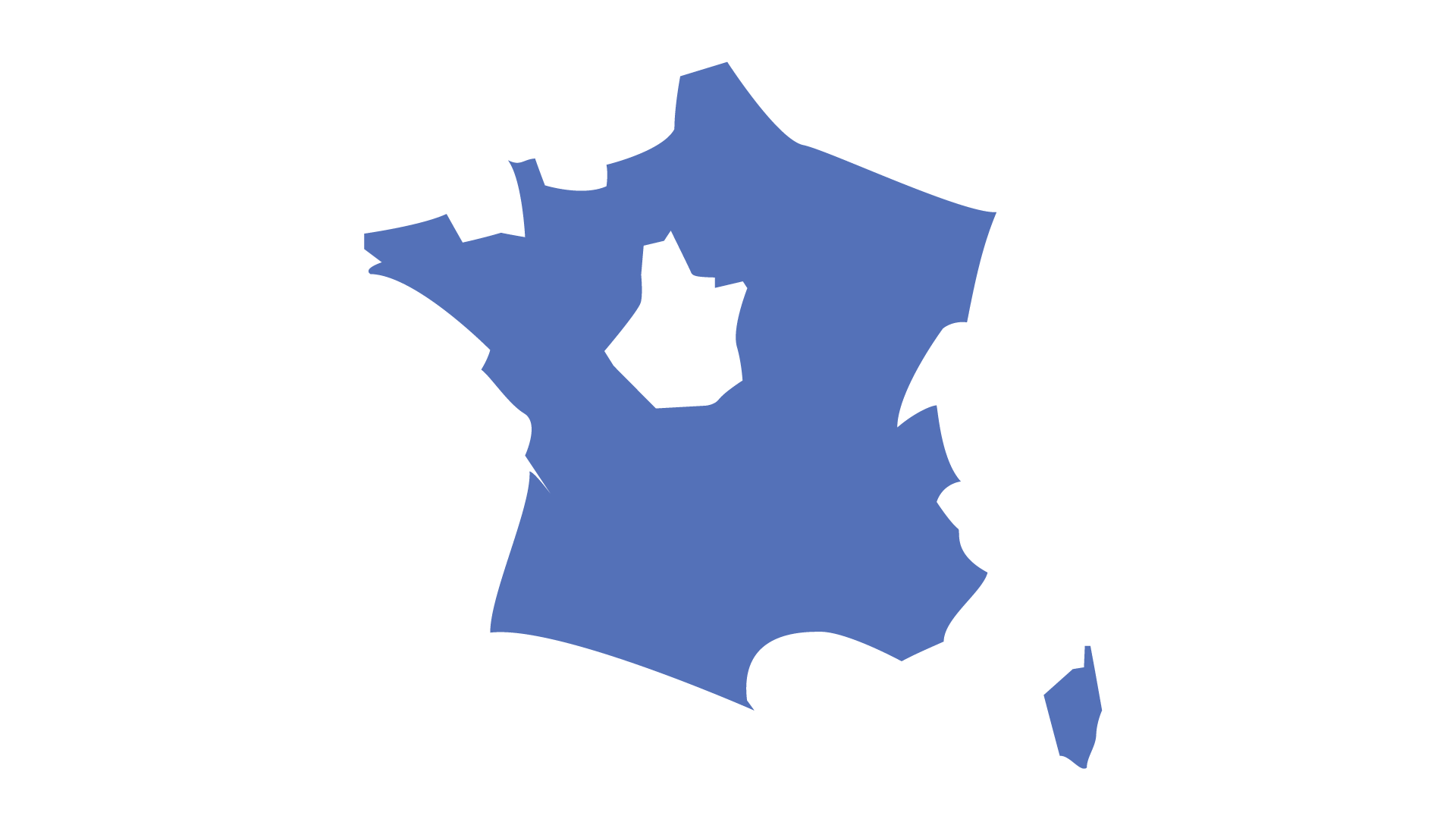 Carte de France localisation Brasserie Big Bang Beers