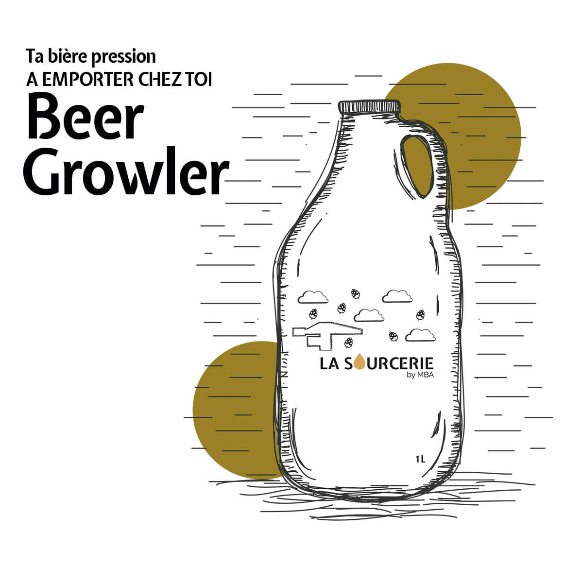 Biere en growler La Sourcerie Nantes