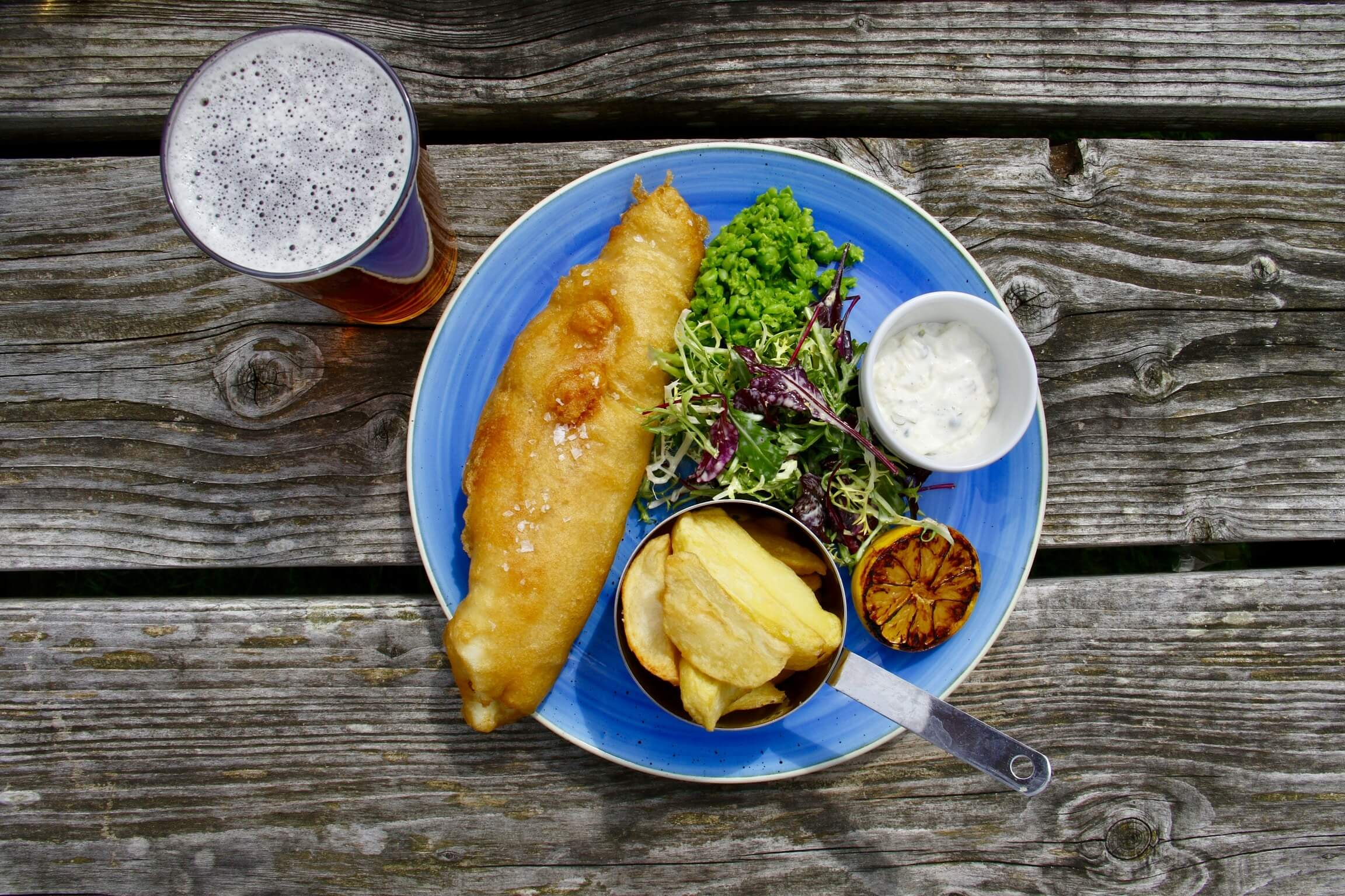 fish and chips pale ale accord met biere