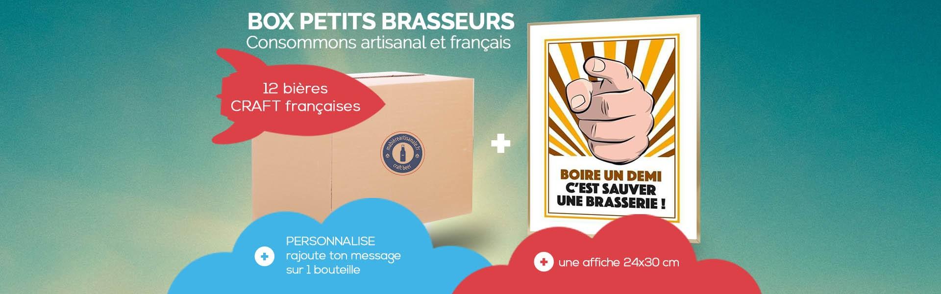 Sélection de 12 bières craft françaises et une affiche Boire un Demi c'est Sauver une microbrasserie